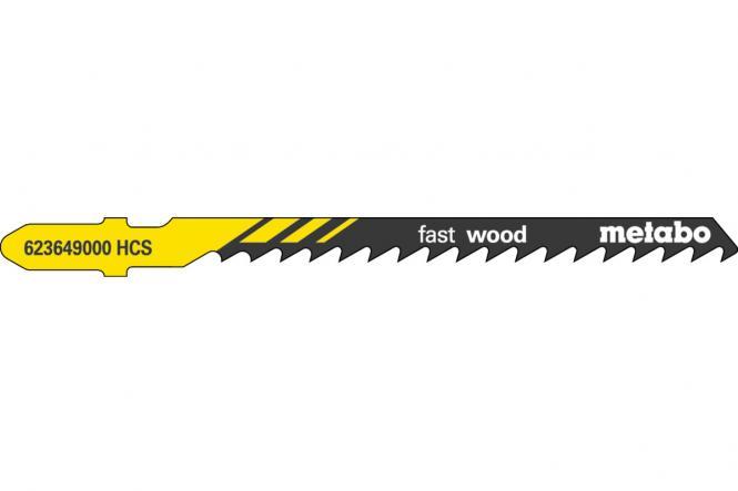 """Metabo 25 Stichsägeblätter """"fast wood"""" 74/ 4,0 mm (623607000)"""