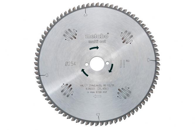 Metabo Kreissägeblatt HW/CT 250x30, 80 WZ, 10° (628087000)