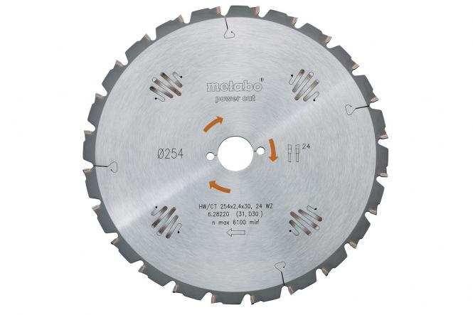 Metabo Kreissägeblatt HW/CT 250x30, 24 WZ 3° neg. (628013000)